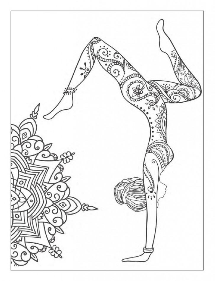 Yoga and meditation coloring book for adults: With Yoga Po