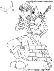 Zelda coloring pages | Kidlets | Pinterest | Coloring pages ..