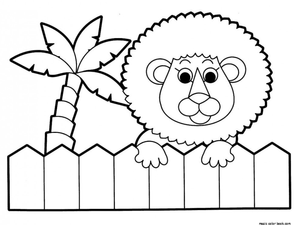 Zoo Coloring Book zoo lion coloring vintage zoo coloring book ...