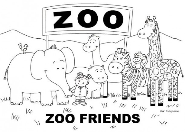 Zoo Coloring Page : Coloring Page - istanbulescort-ilan.com