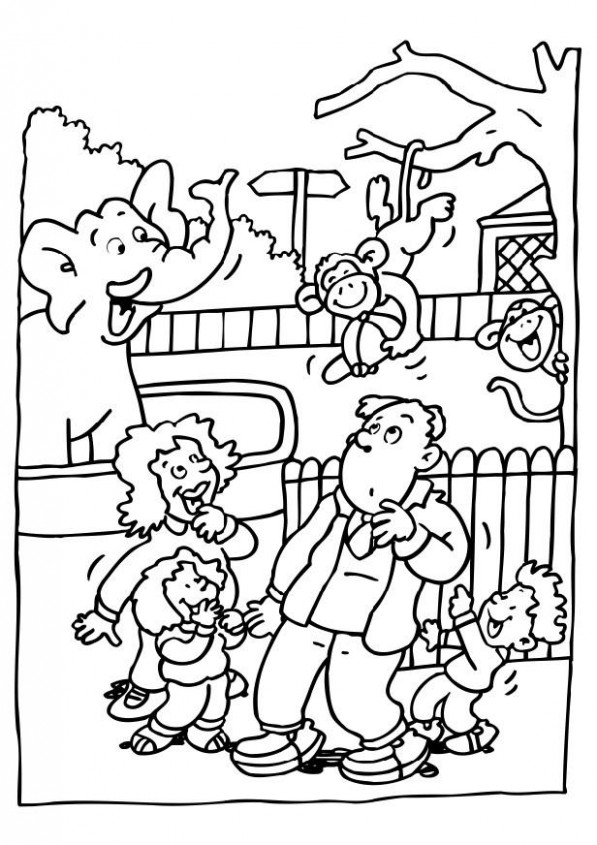 Zoo Coloring Pages Free – AZ Coloring Pages Zoo Coloring Book In ..