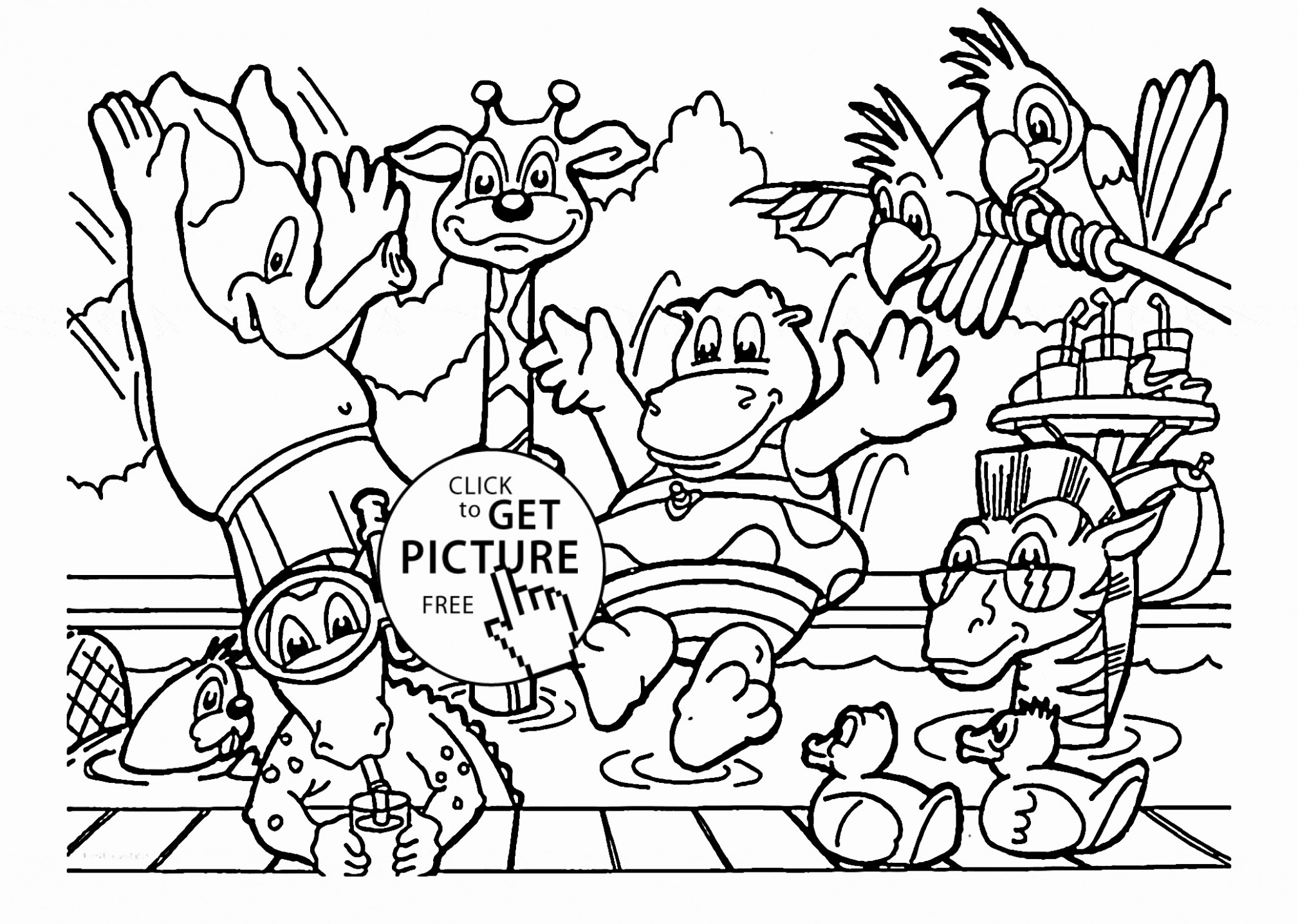 Zoo Coloring Pages Printable | Free Coloring Books