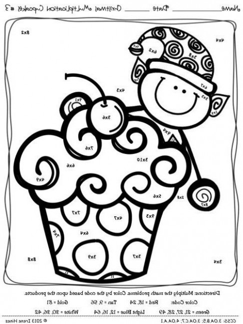 20nd Grade Christmas Coloring Pages - Free Christmas Math Worksheets ...