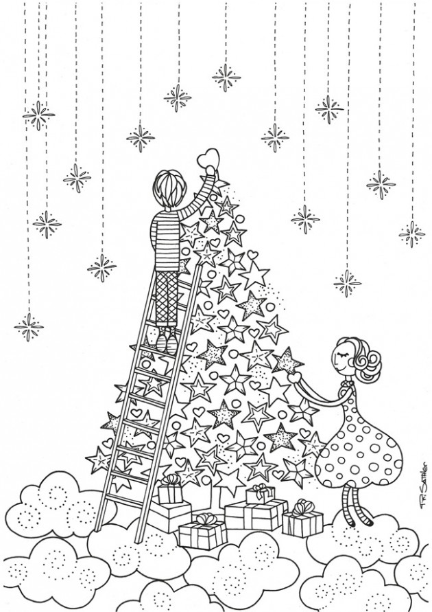 12 Christmas Printable Coloring Pages – EverythingEtsy
