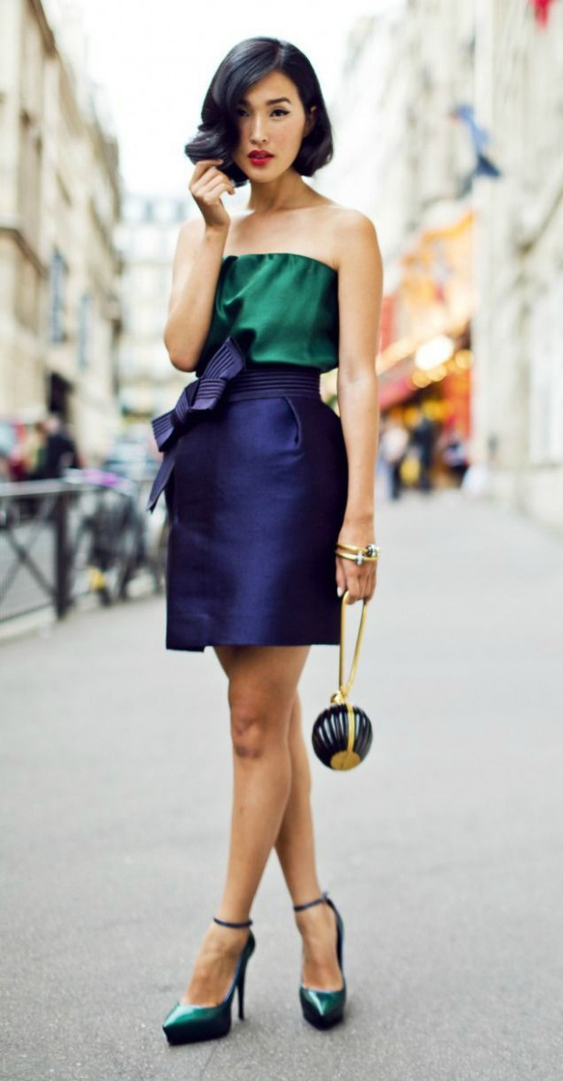 12 color block outfits for Christmas parties | Outfit inspiration ..