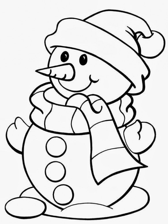12 Free Christmas Printable Coloring Pages – Snowman, Tree, Bells ..