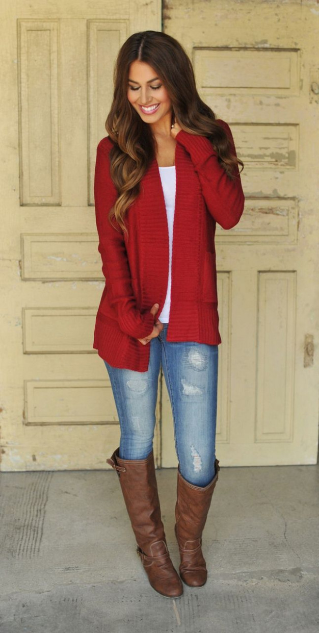 12 Red Outfits Will Dominate Your Christmas – Outfit Ideas HQ – Christmas Color Outfits