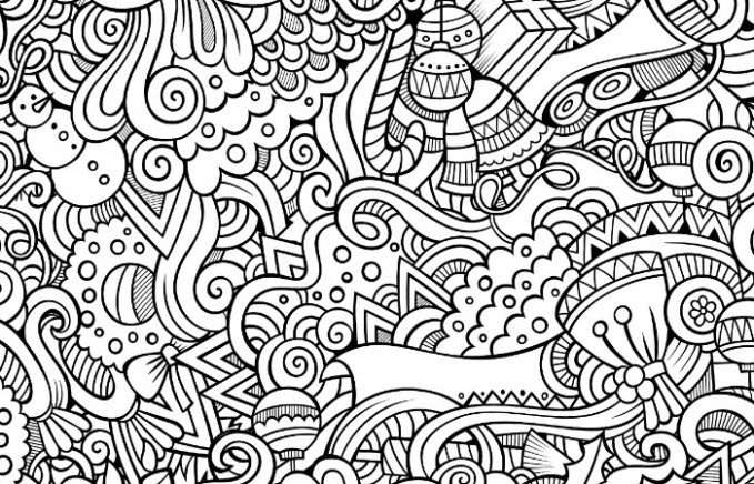 14 Free Printable Holiday Adult Coloring Pages - Christmas Coloring Sheets For Adults Pdf