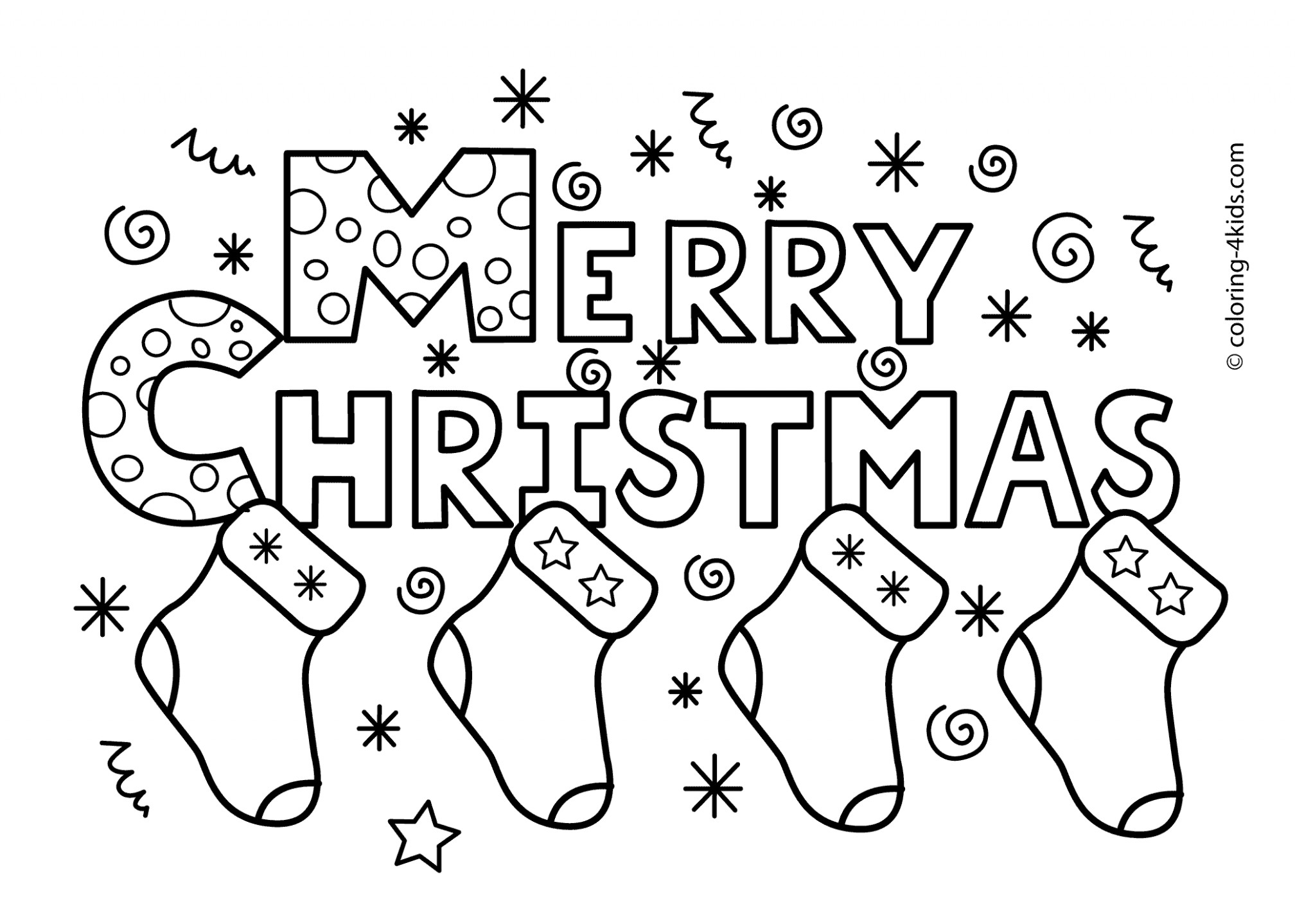 14×14 ho ho ho and happy merry christmas from santa coloring page ..