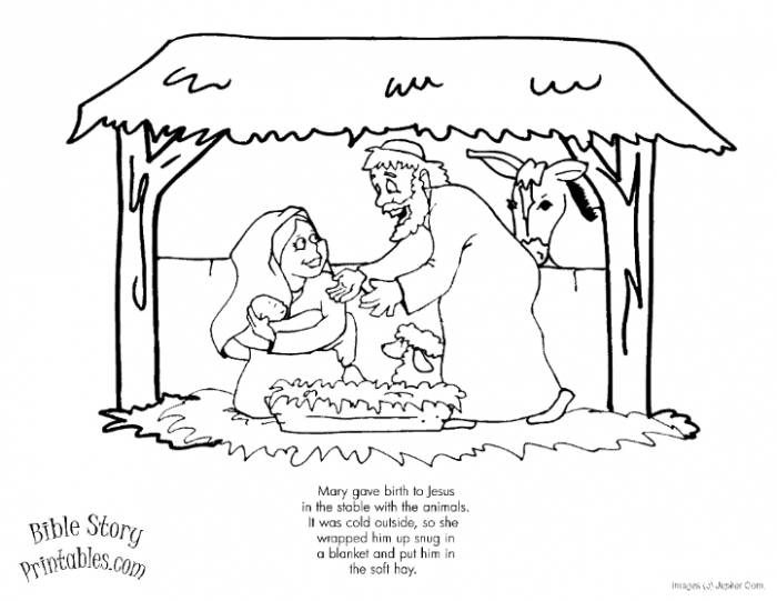 15 Best Christmas Coloring Pages – Christmas Coloring Sheets Jesus