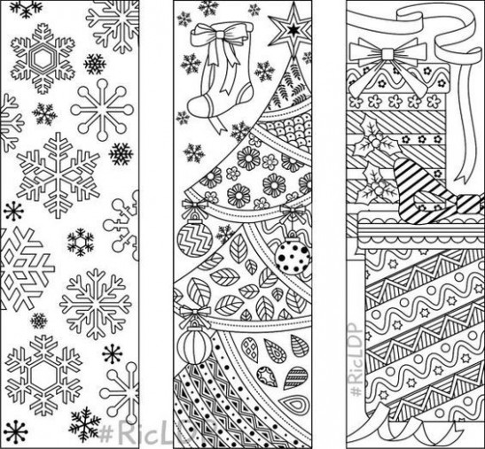 15 Christmas Coloring Bookmarks 15 designs with by RicLDPArtworks ..