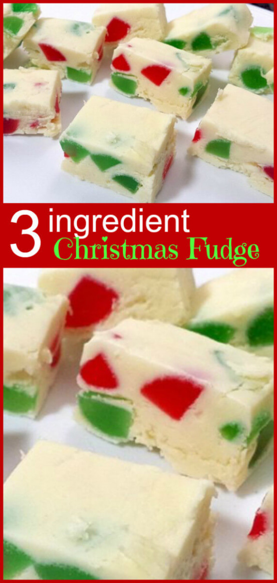 15 Ingredient Christmas Fudge | The Kitchen Magpie – Christmas Colored Fudge