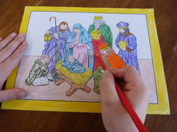15  Printable Christmas Coloring Pages: Jesus