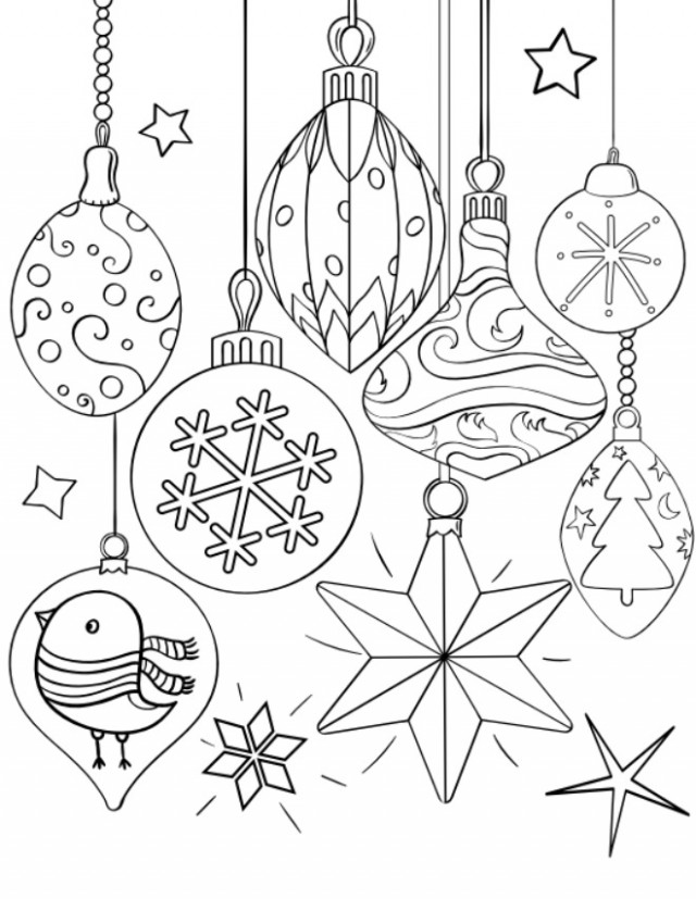 16 Christmas Coloring Pages for Kids – Tip Junkie – Christmas Coloring Pages Black And White