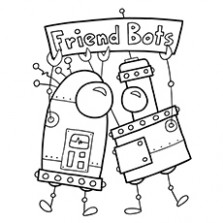 16 Cute Free Printable Robot Coloring Pages Online – Christmas Robot Coloring Pages