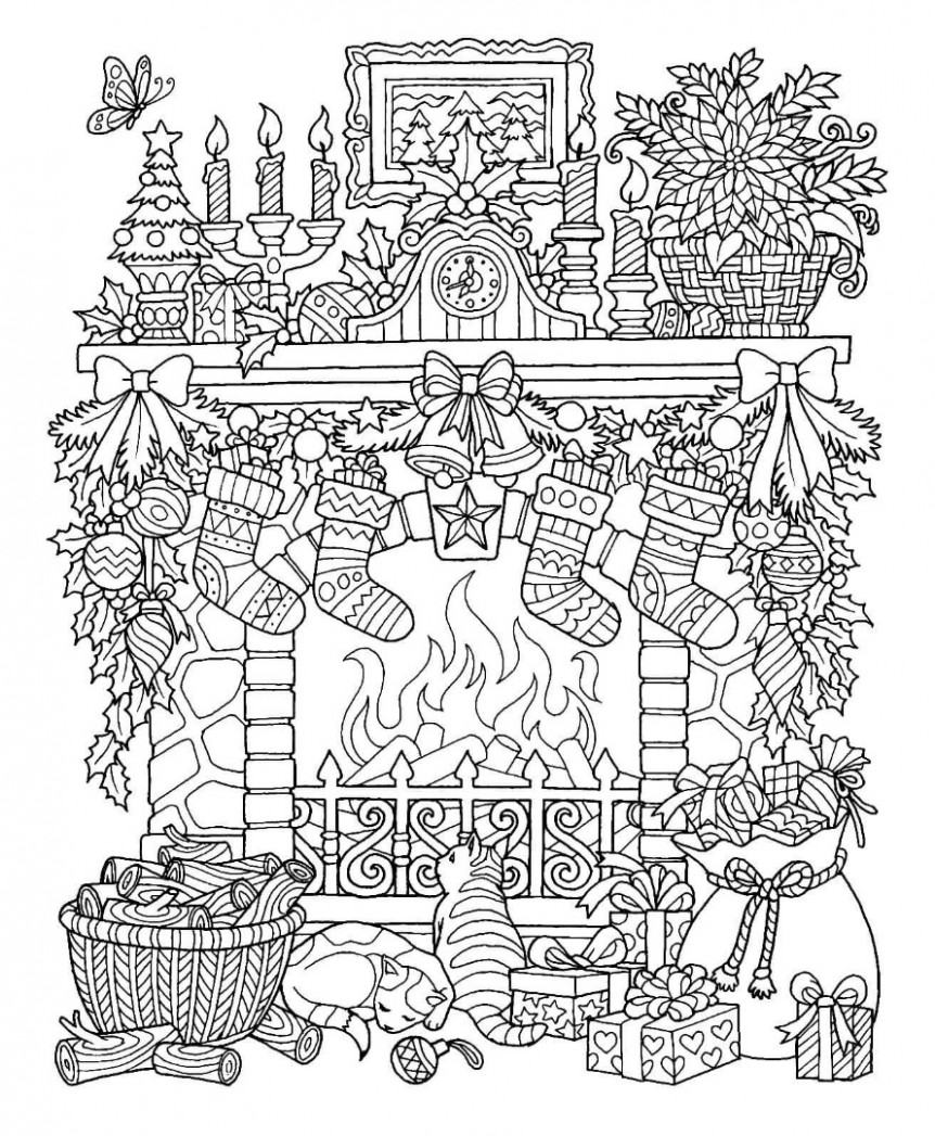 16 Free Christmas Coloring Pages / Drawings – Unique Christmas Coloring Pages