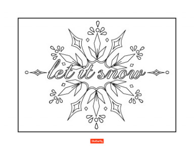 17 Christmas Coloring Pages for Kids | Shutterfly – Christmas Coloring Pages Snowflakes