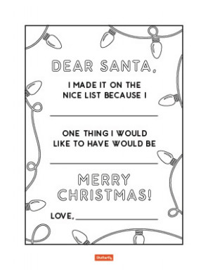 17 Christmas Coloring Pages for Kids | Shutterfly – Christmas List Coloring Pages