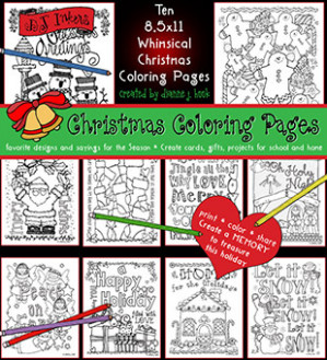 17 Whimsical Christmas Coloring Pages for Creating Smiles by DJ ..