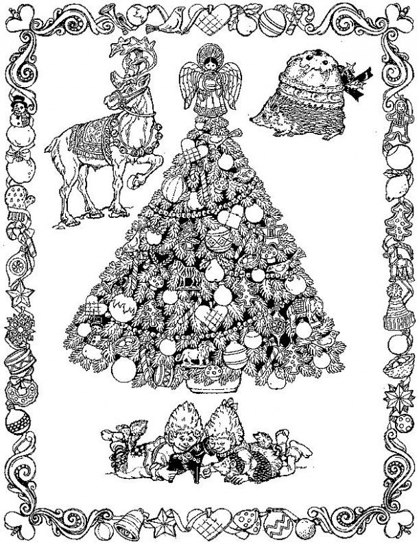 17×17 17 christmas coloring pages for adults kids colouring ..