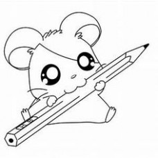 18 Best kawaii coloring pages images in 18 – Christmas Hamster Coloring Pages