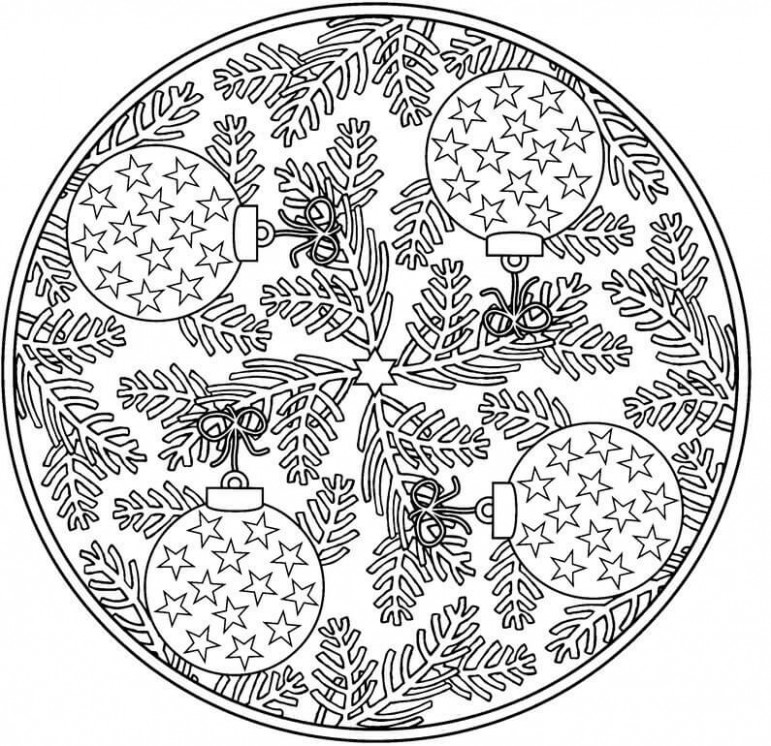 18 Christmas Coloring Pages For Adults