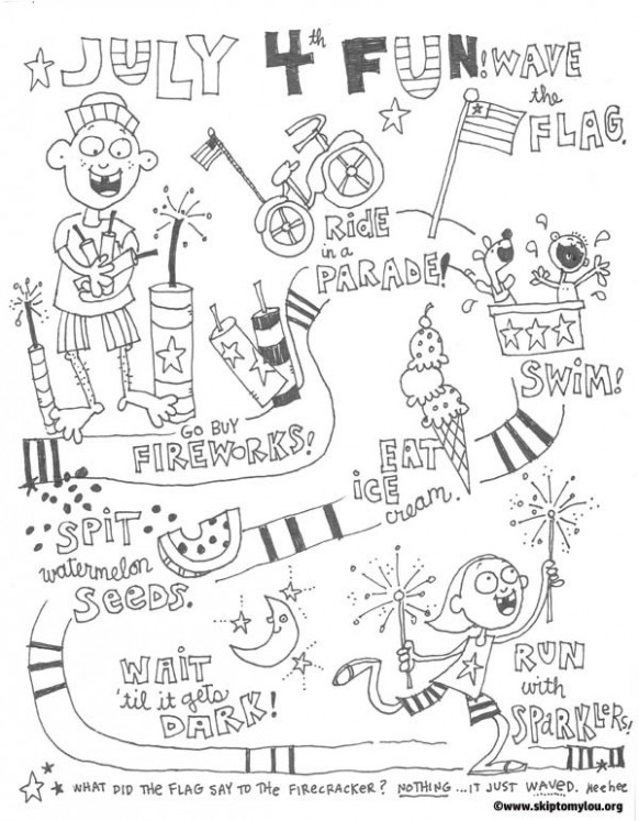 18 Free Fourth Of July Coloring Pages | Visual art scoop – Christmas In July Coloring Sheets
