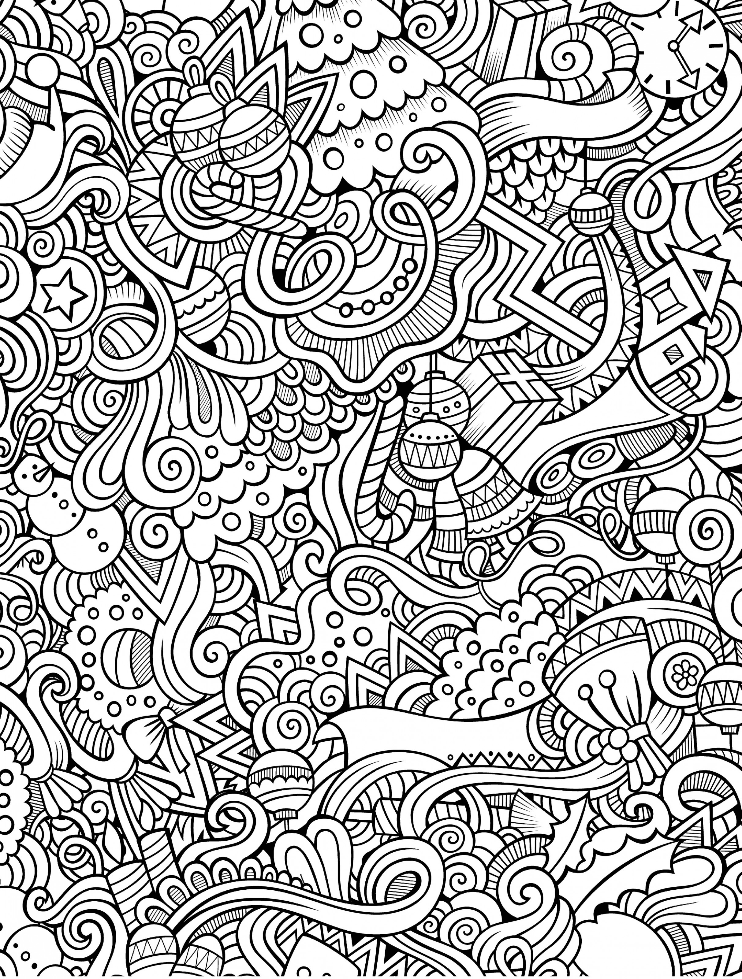 18 Free Printable Holiday Adult Coloring Pages