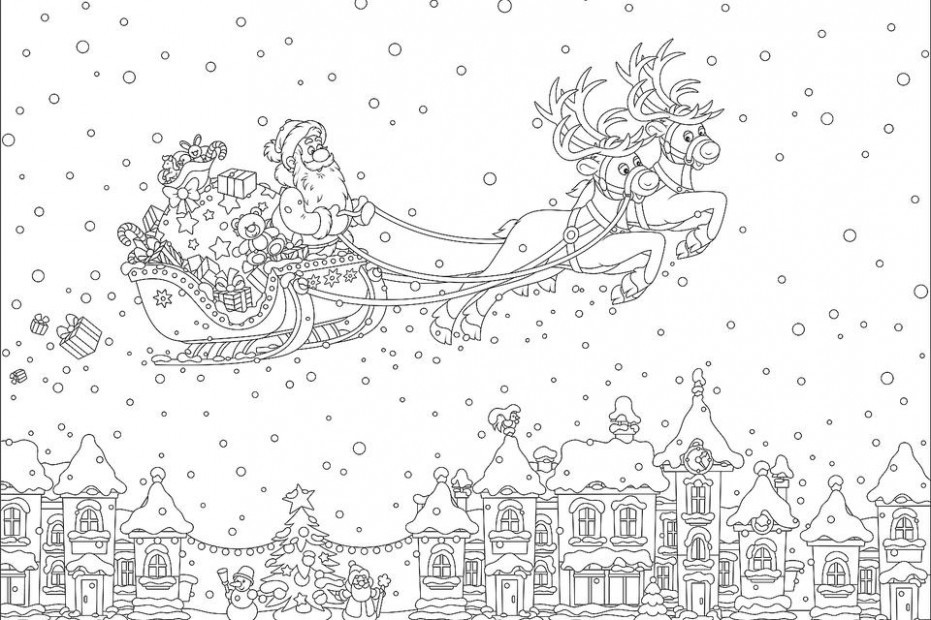 """18 """"Merry Christmas Coloring Pages"""" 18 for Adults"""