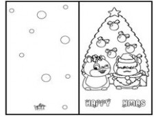 19 Best Christmas Cards Coloring Page images in 19 | Christmas ..