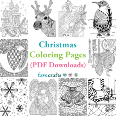 19 Christmas Coloring Pages (PDF Downloads) | FaveCrafts.com