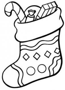 20 best stocking coloring page printable images in 20 | Christmas ..