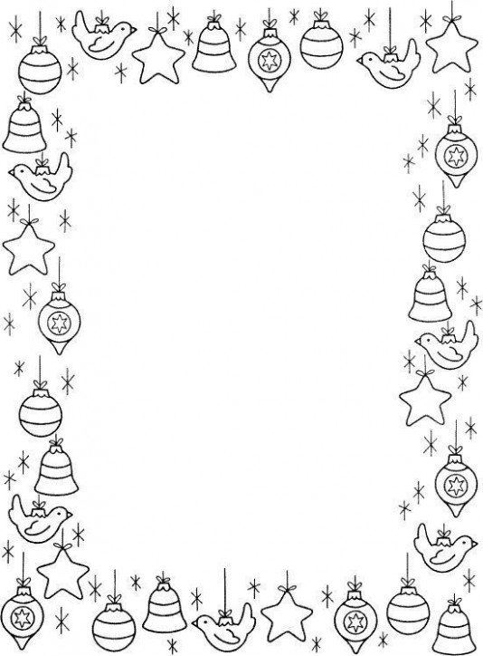 20  Christmas Coloring Page Border Landscape Pictures and Ideas on ..