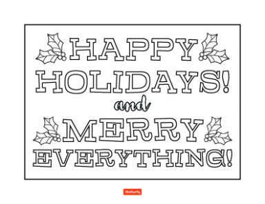 20 Christmas Coloring Pages for Kids | Shutterfly – Christmas Coloring Pages Merry Christmas Sign
