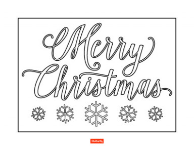 20 Christmas Coloring Pages for Kids | Shutterfly – Merry Christmas Sign Coloring Pages