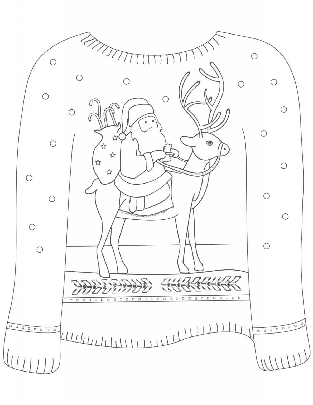 20 Ugly Christmas Sweater Colouring Pages – Mum In The Madhouse – Ugly Christmas Sweater Coloring Pages