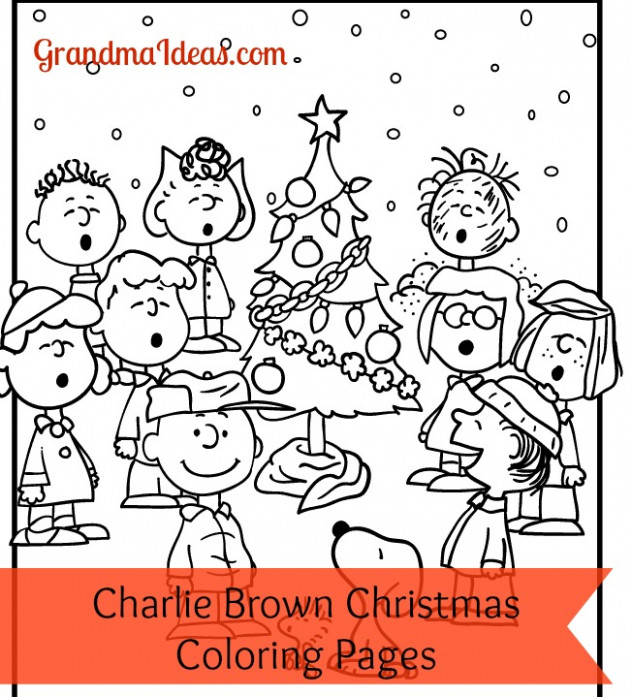 A Charlie Brown Christmas Coloring Activity – Grandma Ideas – Printable Charlie Brown Christmas Coloring Pages