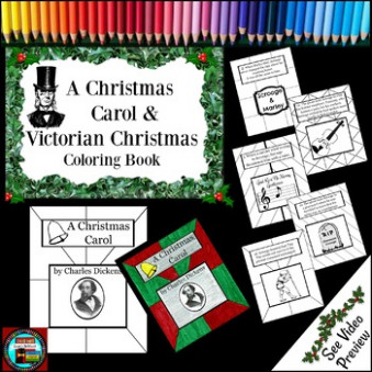 A Christmas Carol and Victorian Christmas Coloring Book by Susie's ..