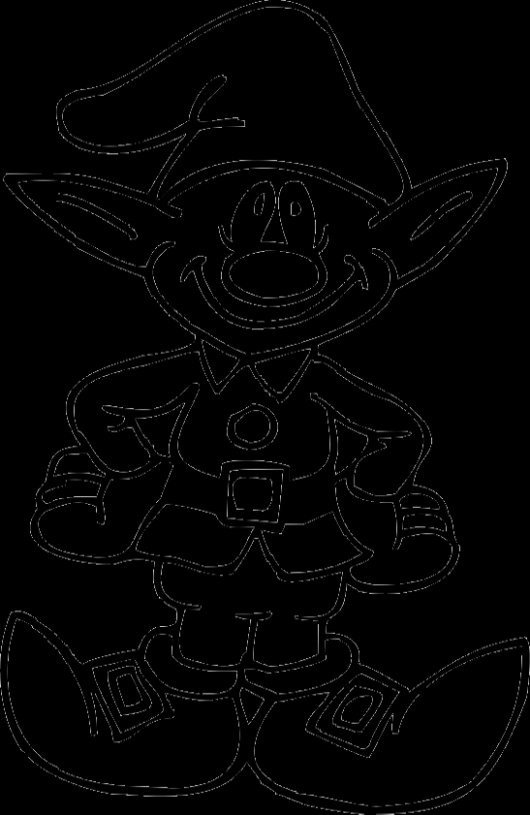 A Funny Christmas Elves Coloring Pages - Christmas Coloring Pages ...