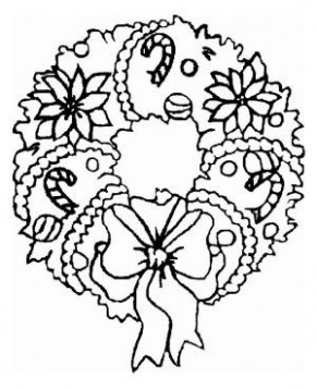 A Sweet Christmas Wreath Ornament Coloring Page | Christmas ..