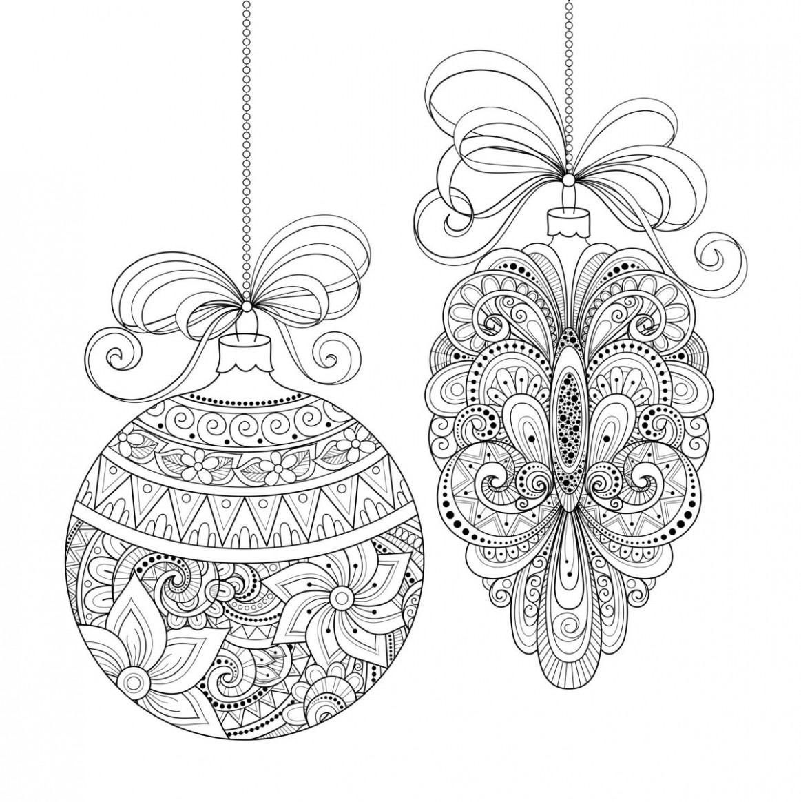 Adult Christmas Coloring Pages Adult Christmas Coloring Book Stvx ...