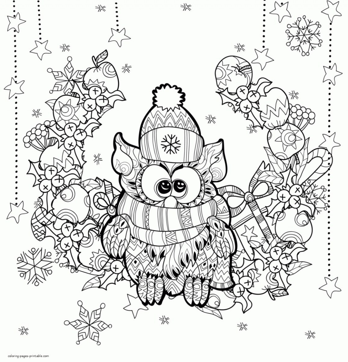 Adult Christmas Coloring Pages Christmas Coloring Book Pages For ..