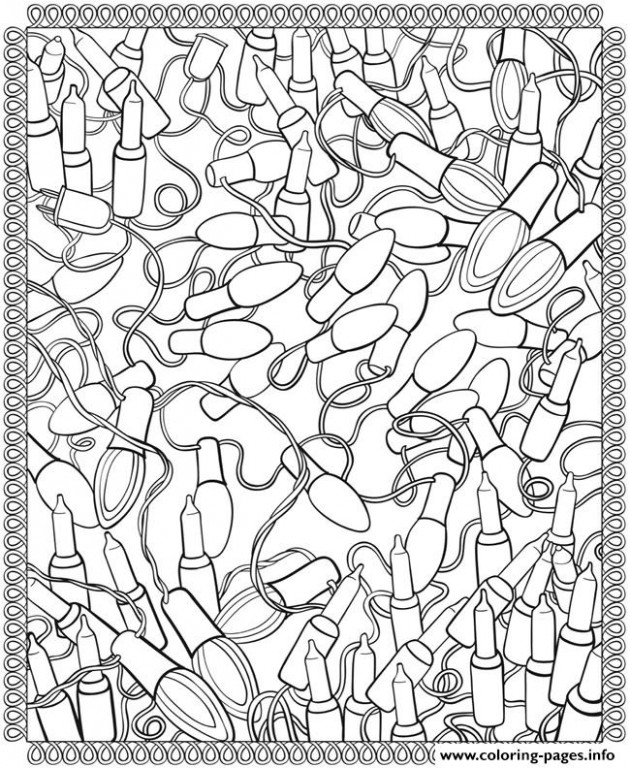 Adult Christmas Lights Coloring Pages Printable – Christmas Lights Coloring Pages Printable