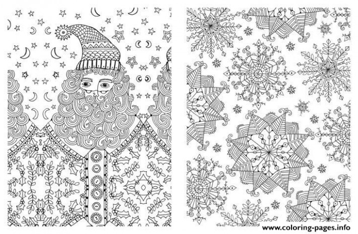 Advanced Christmas Xmas For Adults Coloring Pages Printable