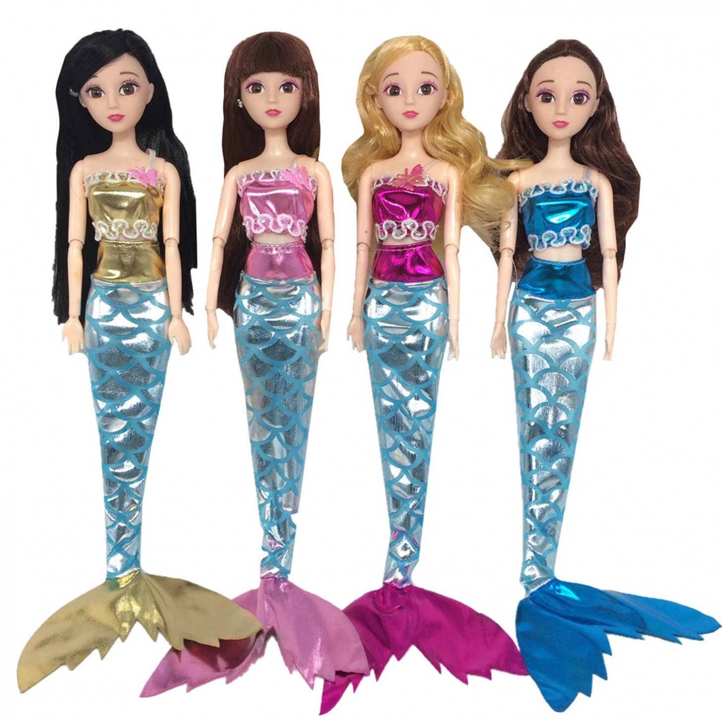 Amazon.com: 12 Set Assorted Color Girl Doll Clothing Mermaid Style ..