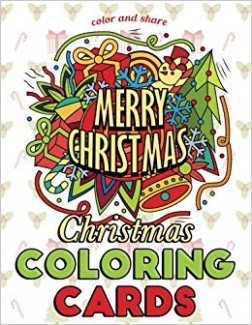 Amazon.com: Christmas Coloring Cards: Color and Share: Holiday ...