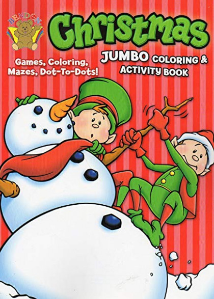 Amazon.com: Christmas Jumbo Coloring and Activity Book: Toys