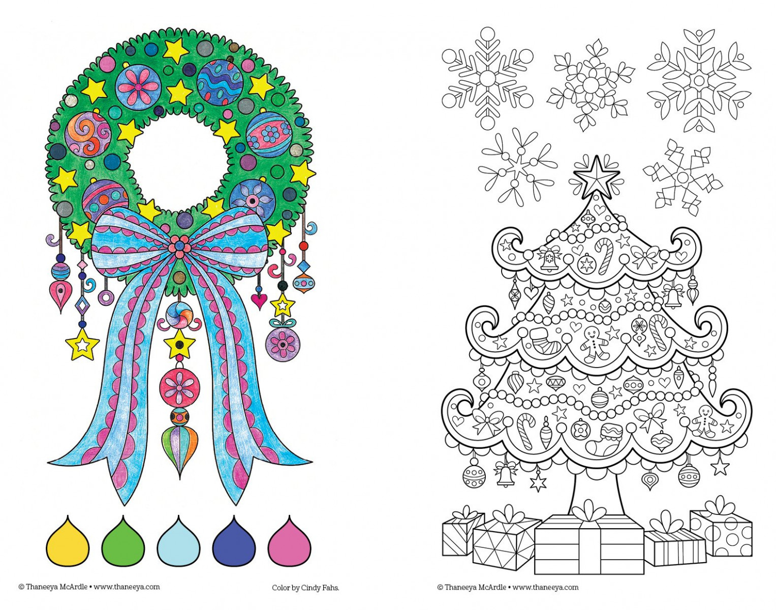 Amazon.com: Color Christmas Coloring Book: Perfectly Portable Pages ..