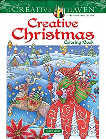 Amazon.com: Creative Haven Creative Christmas Coloring Book (Adult ..