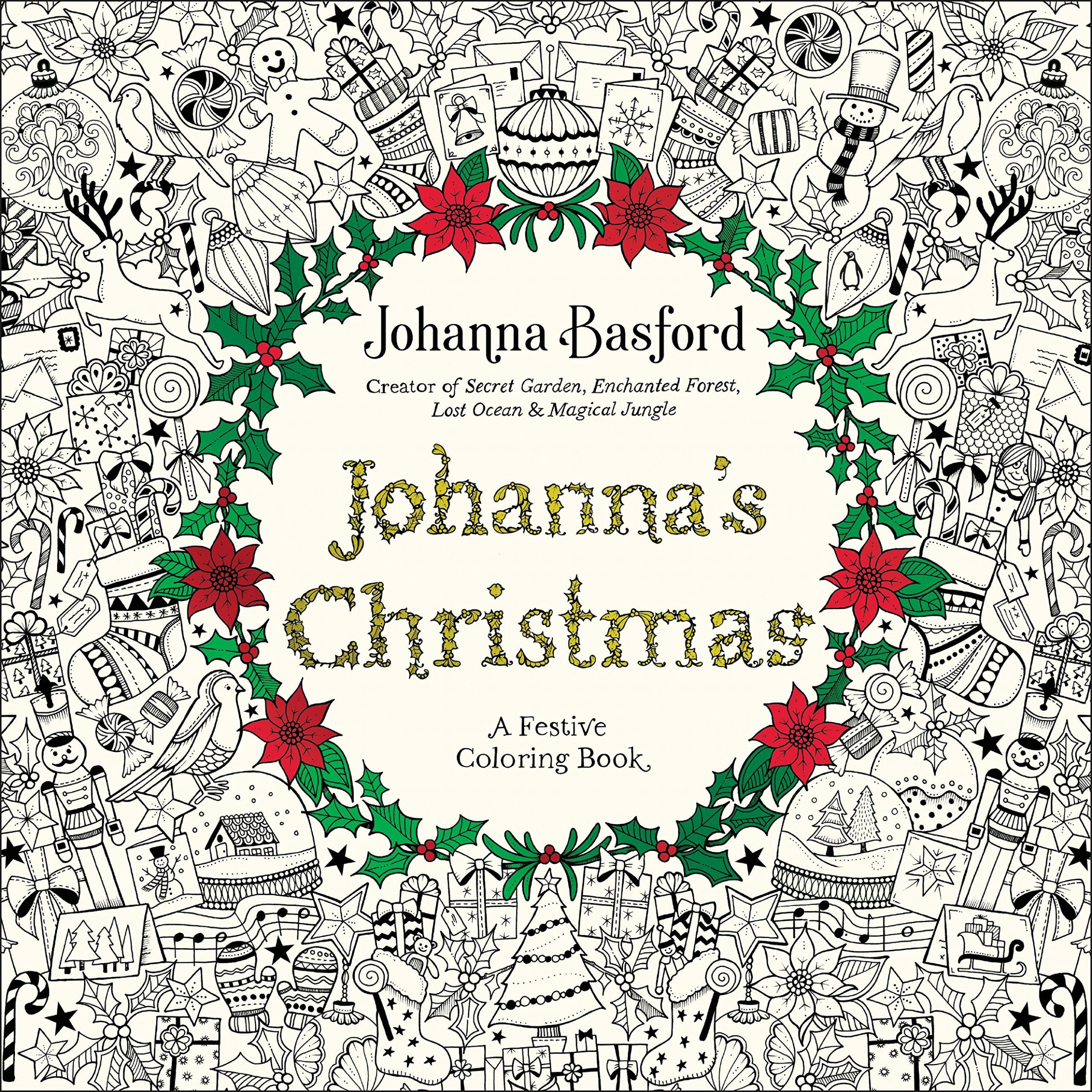 Amazon.com: Johanna's Christmas: A Festive Coloring Book for Adults ..